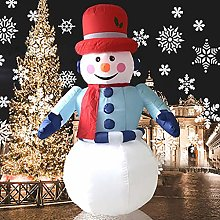 Elikliv 6ft 1.8m Inflatable Snowman Christmas