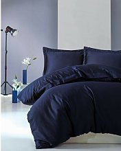 Elio Duvet Cover Set Symple Stuff Colour: Dark Blue