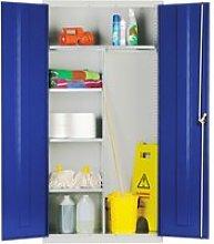 Elite Janitorial Cupboard, Yellow, Free Standard
