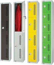 Elite Perforated Door Lockers, 30wx30dx180h (cm),