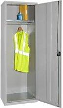 Elite Slim Wardrobe Cupboard, Dark Grey, Free