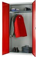 Elite Wardrobe Cupboard, Dark Grey, Free Standard