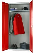 Elite Wardrobe Cupboard, Red, Free Standard