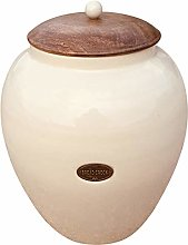 EliteKoopers Ceramic Cream Bread Bin Jar For Home