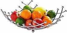 EliteKoopers Chrome Fruit Basket Bowl For Kitchen