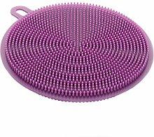 EliteKoopers Purple Silicone Dish Washing Sponge