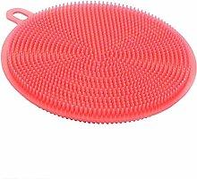 EliteKoopers Red Silicone Dish Washing Sponge