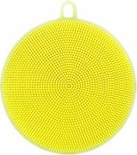 EliteKoopers Yellow Silicone Dish Washing Sponge