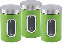 EliteZotec New Green 3Pc Storage Canister Set Jars