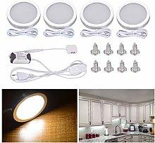 Elitlife 4pcs LED Under Cabinet Light Interior LED