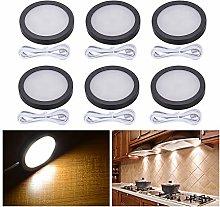 Elitlife 6pcs LED Under Cabinet Light Interior LED