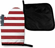 Eliuji American Flag Red White Blue Oven Mitts and