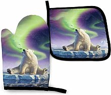 Eliuji Aurora Bear Durable Oven Mitts and Pot