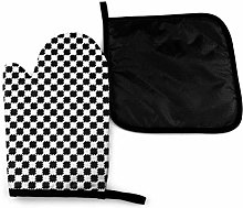 Eliuji Black and White Distort Checkered Oven