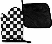 Eliuji Checkerboard Seamless Pattern Black and