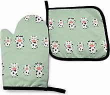Eliuji Cow, Oven Mitts and Pot Holders Sets.Baking