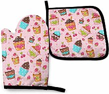 Eliuji Cupcakes Muffins Oven Mitts and Pot Holders