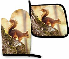 Eliuji Cute Squirrel Oven Mitts and