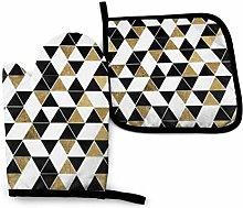 Eliuji Fashion Modern Black White Gold Triangles