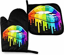 Eliuji LGBT Rainbow Fist Gay Pride Oven Mitts and