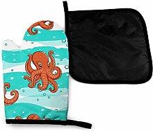 Eliuji Orange Octopuses On Sea Waves Animals