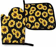 Eliuji Oven Mitt and Potholder Sunflower Gloves