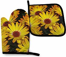 Eliuji Oven Mitts and Pot Holders Set African