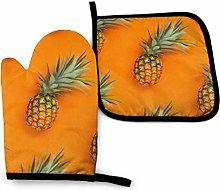Eliuji Oven Mitts and Pot Holders Set Orange