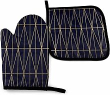 Eliuji Oven Mitts and Pot Holders Sets Modern Gold