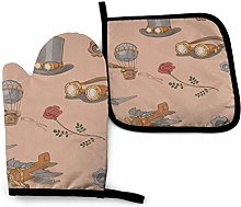 Eliuji Steampunk with Steampunk Top Hat Oven Mitts