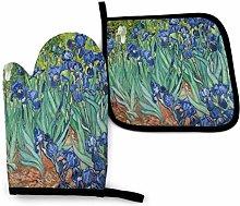 Eliuji Van Gogh Irises Oven Mitt and Pot Holder