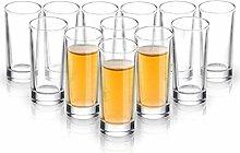 ELIVIA Shot Glass Set with Heavy Base, 1.2 oz (12
