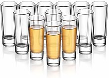 ELIVIA Shot Glass Set with Heavy Base, 2 oz Clear