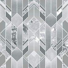 Elixir Geometric Marble Wallpaper Silver 167501 -