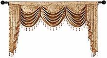 ELKCA European Valance Curtains for Living Room