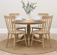 Elkstone Oak Round Pedestal Dining Table