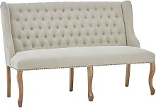 Elkurud Linen 2 Seater Sofa In Natural