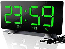 ellaLuna Digital Alarm Clock, Radio Clock Dual