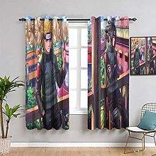 Elliot Dorothy Solid Grommet Blackout Curtains