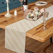 Elloevn Cream Linen Table Runner, Sparkle