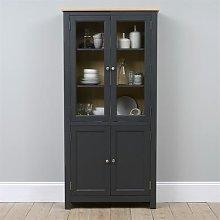 Ellwood Charcoal Glazed Display Cabinet