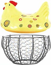 Ellyeall Farmhouse Style Egg Holder Iron Base Is