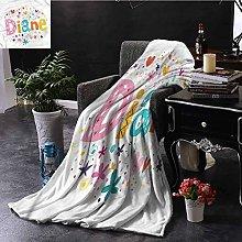 Elma Banju Diane White Throw Blanket Festive Baby