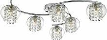 Elma ceiling lamp polished chrome and glass 6