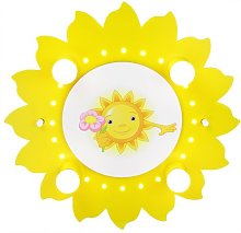 Elobra Children's Sun Flower Ceiling Lamp with