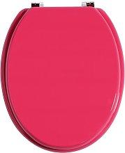 Elongated Toilet Seat Symple Stuff Finish: Hot Pink