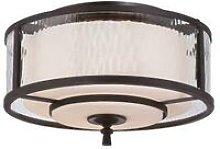 Elstead Adonis - 2 Light Flush Ceiling Light Dark
