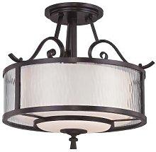Elstead Adonis - 3 Light Semi Flush Ceiling Light