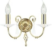 Elstead Aegean - 2 Light Indoor Candle Wall Light