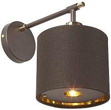 Elstead Balance - 1 Light Indoor Wall Light Brown,